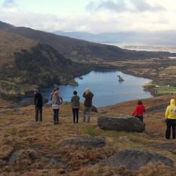 Thomas/friends at Healy Pass summit Cork/Kerry border