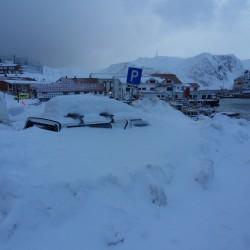 Snow in Honningsvag