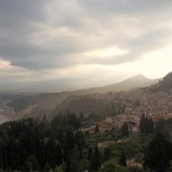 Moody view from Taormina - Greco Teatro