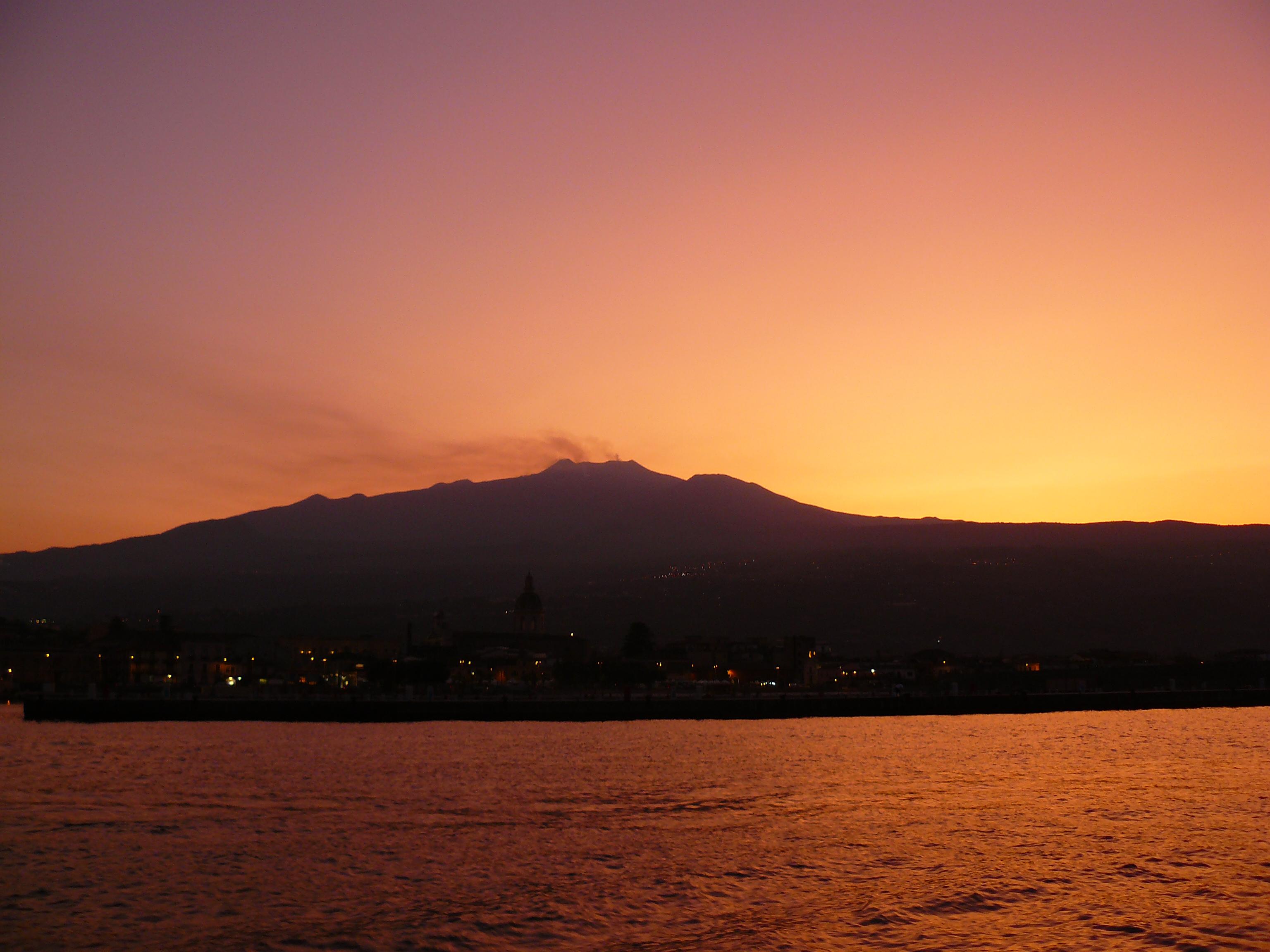 Etna tramonto