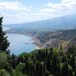 Ionian coast with Etna