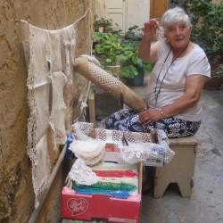 Lady, traditional crocheting, Gozo